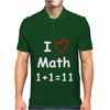 Kids Boys Childrens I Love Math 1+1=11 Funny Mens Polo