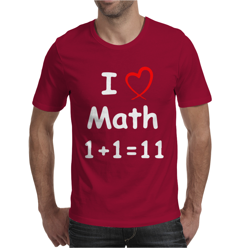 Kids Boys Childrens I Love Math 1+1=11 Funny Mens T-Shirt