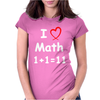 Kids Boys Childrens I Love Math 1+1=11 Funny Womens Fitted T-Shirt