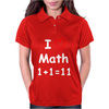 Kids Boys Childrens I Love Math 1+1=11 Funny Womens Polo