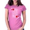 KING OF HEARTS PLAYING CARD Womens Fitted T-Shirt