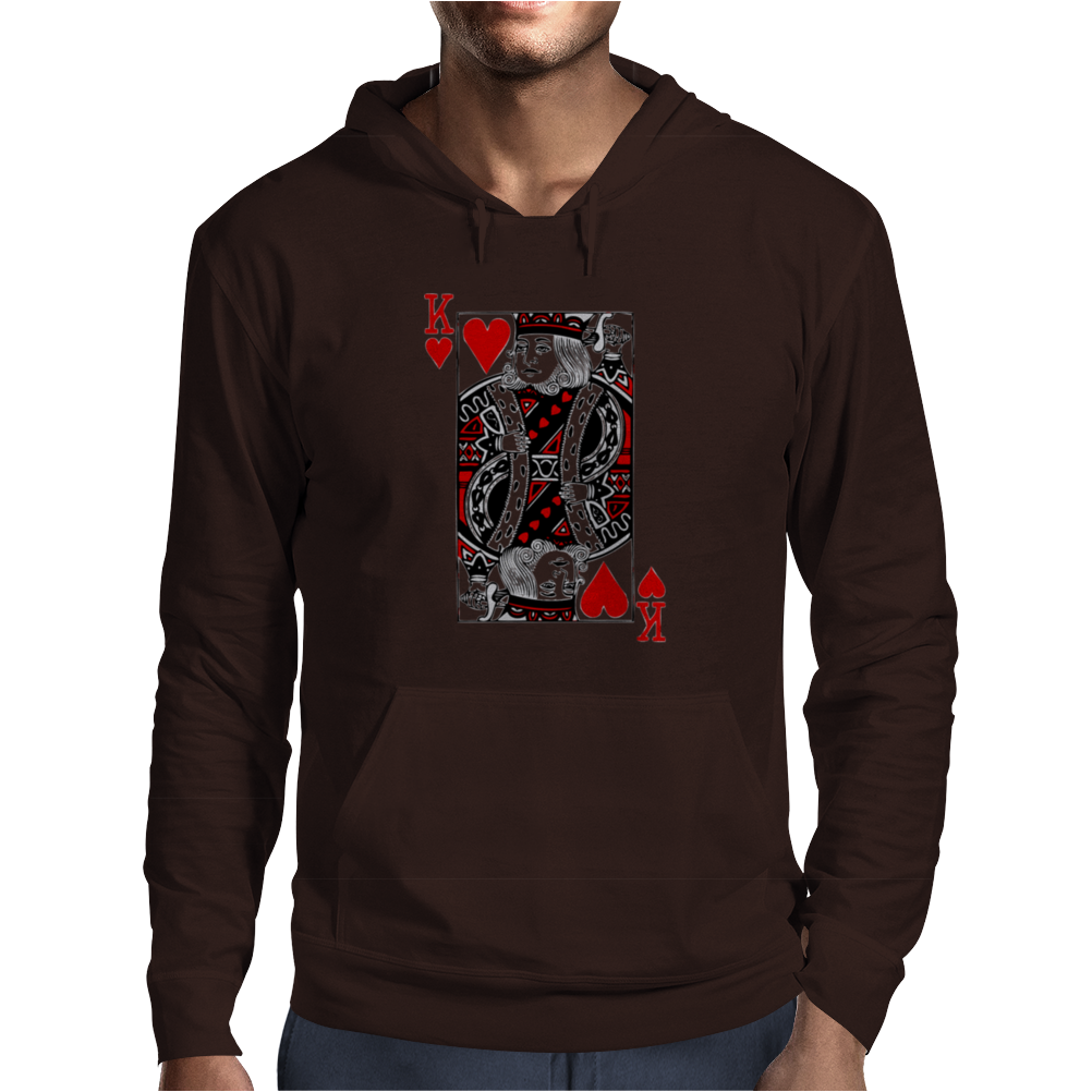 king of hearts Valentines Day (his and her) Mens Hoodie