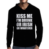 Kiss Me I'm Drunk Or Irish Mens Hoodie
