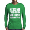 Kiss Me I'm Drunk Or Irish Mens Long Sleeve T-Shirt