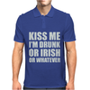 Kiss Me I'm Drunk Or Irish Mens Polo