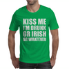Kiss Me I'm Drunk Or Irish Mens T-Shirt