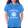 Kiss Me I'm Highrish Womens Polo