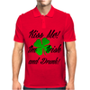 KISS ME I'M IRISH AND DRUNK Mens Polo
