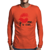 Kiss me Mens Long Sleeve T-Shirt