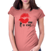 Kiss me Womens Fitted T-Shirt