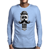 Kiss Skull Mens Long Sleeve T-Shirt