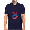 Kiss USA, America love Mens Polo