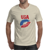 Kiss USA, America love Mens T-Shirt