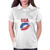 Kiss USA, America love Womens Polo