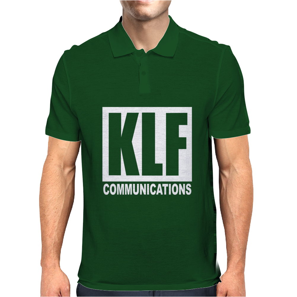 KLF Communications Men's T Shirt Black Mens Polo