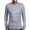 Knife blood funny Mens Long Sleeve T-Shirt
