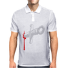 Knife blood funny Mens Polo