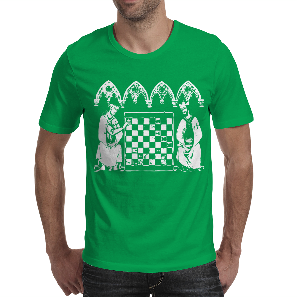 Knights Templar playing Chess Mens T-Shirt