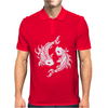Koi Coy Fish Mens Polo