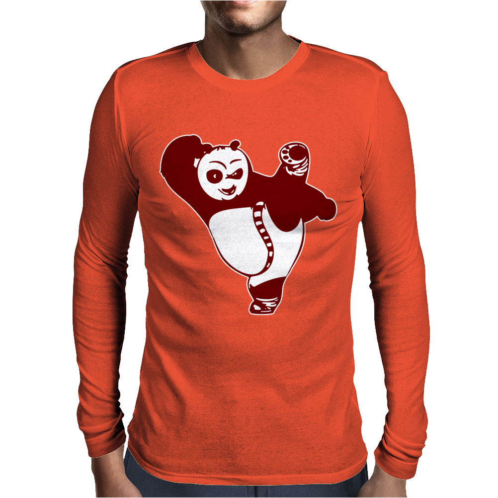 Kungfu Panda Mens Long Sleeve T-Shirt