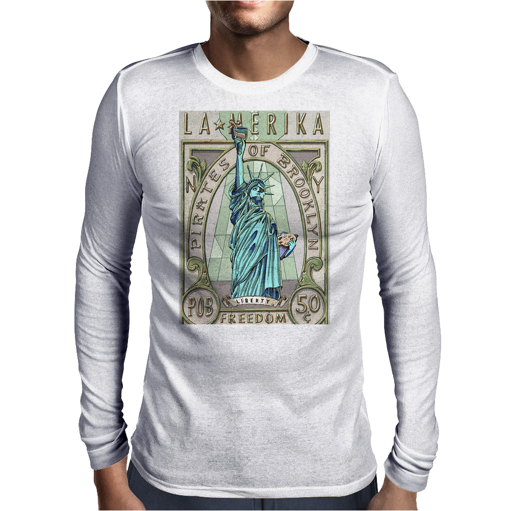 La Merika Mens Long Sleeve T-Shirt