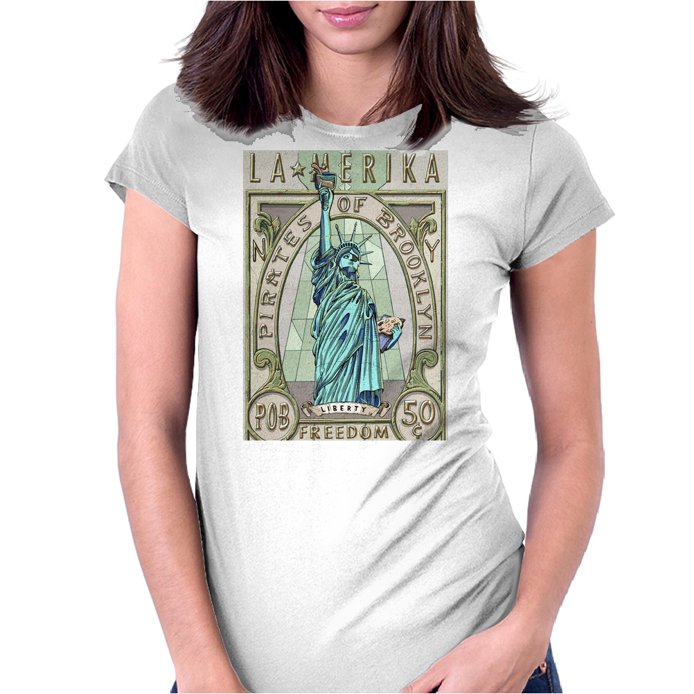 La Merika Womens Fitted T-Shirt