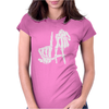 LA Skeleton Fingers Womens Fitted T-Shirt