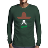Ladies Sombrero  Funny retro Mexico Mustache designer Mens Long Sleeve T-Shirt