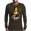 Lady With A Machine Gun Mens Long Sleeve T-Shirt