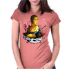Lady With A Machine Gun Womens Fitted T-Shirt