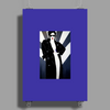 LADY WITH COAT Poster Print (Portrait)