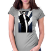LADY WITH COAT Womens Fitted T-Shirt