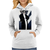 LADY WITH COAT Womens Hoodie