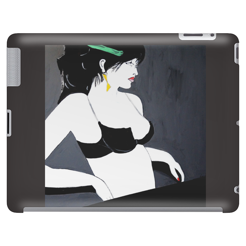 LADY WITH GREEN  BOW Tablet
