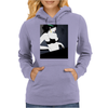 LADY WITH GREEN  BOW Womens Hoodie