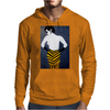LADY WITH YELLOW AND BLACK  SKIRT Mens Hoodie
