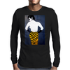 LADY WITH YELLOW AND BLACK  SKIRT Mens Long Sleeve T-Shirt