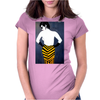 LADY WITH YELLOW AND BLACK  SKIRT Womens Fitted T-Shirt
