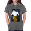 LADY WITH YELLOW AND BLACK  SKIRT Womens Polo