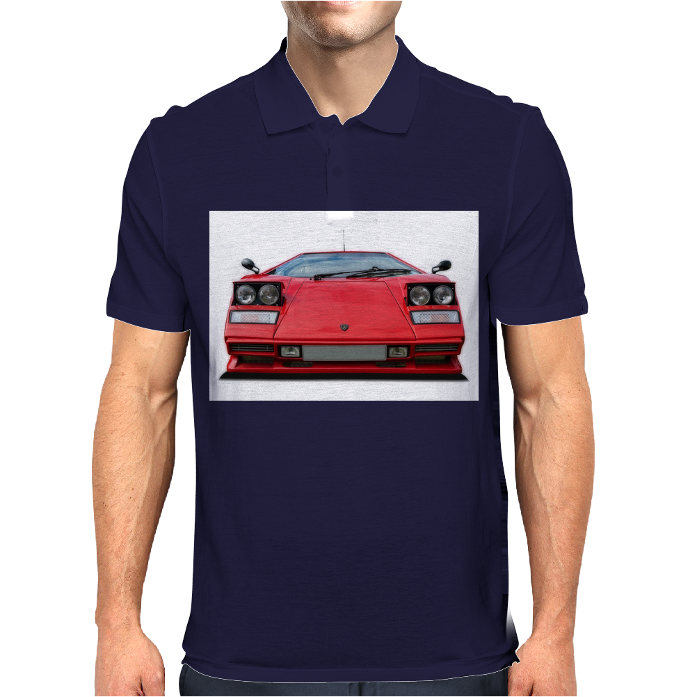 Lamborghini countach Mens Polo