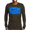 Land Rover Defender T90 technical drawing Mens Long Sleeve T-Shirt