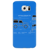 Land Rover Defender T90 technical drawing Phone Case