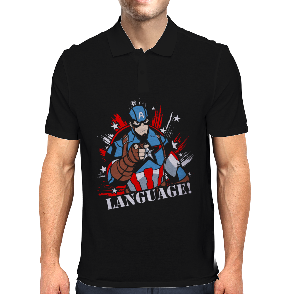 Language! Mens Polo