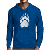 Large Bear Paw Print Crew Neck Long Sleeve Mens Hoodie