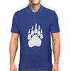 Large Bear Paw Print Crew Neck Long Sleeve Mens Polo