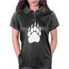 Large Bear Paw Print Crew Neck Long Sleeve Womens Polo