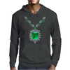 Large Emerald Pendant Necklace Mens Hoodie