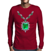 Large Emerald Pendant Necklace Mens Long Sleeve T-Shirt