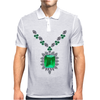 Large Emerald Pendant Necklace Mens Polo