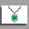 Large Emerald Pendant Necklace Poster Print (Landscape)